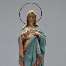 Arte: VIRGEN SAGRADO CORAZON DE MARIA. OJOS DE CRISTAL. OLOT. Lote 269647618