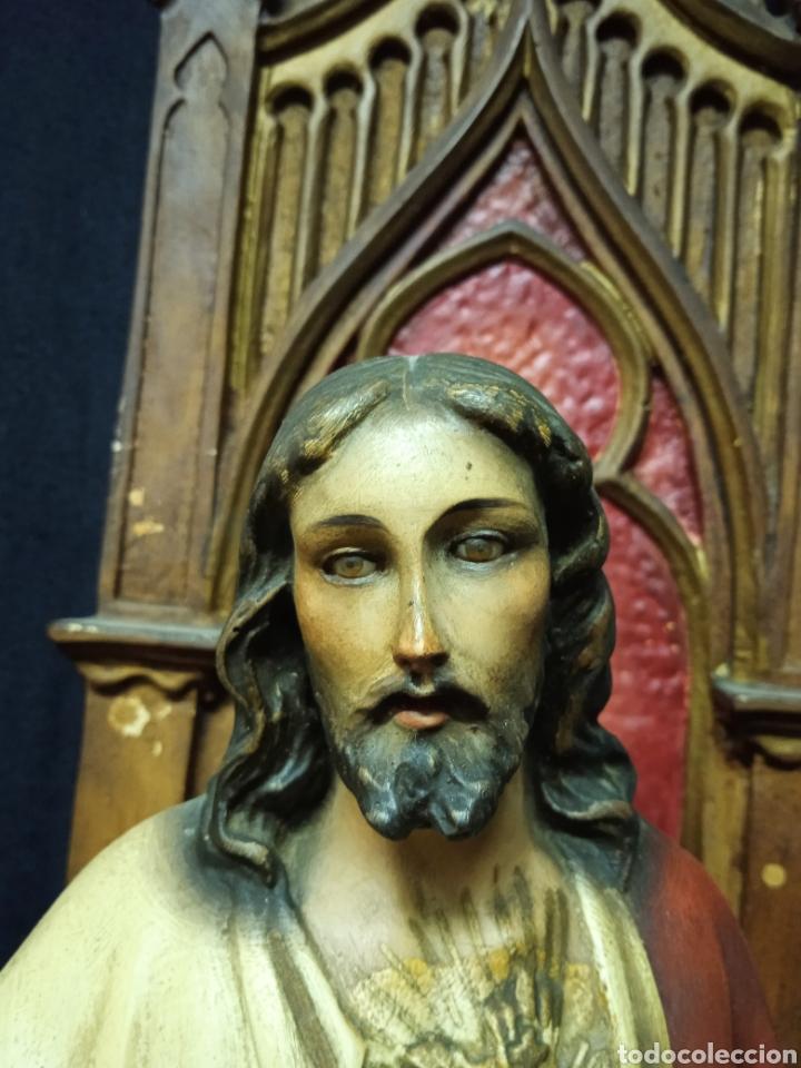 Arte: Antigua figura religiosa SAGRADO CORAZÓN DE JESÚS - Foto 4 - 269743218