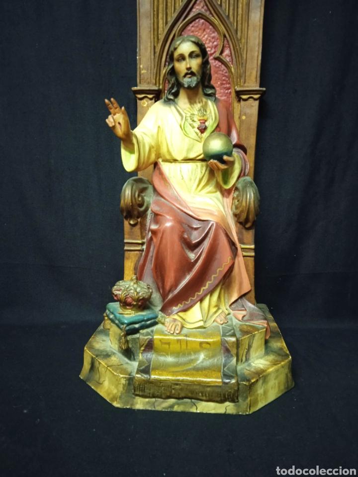 Arte: Antigua figura religiosa SAGRADO CORAZÓN DE JESÚS - Foto 6 - 269743218