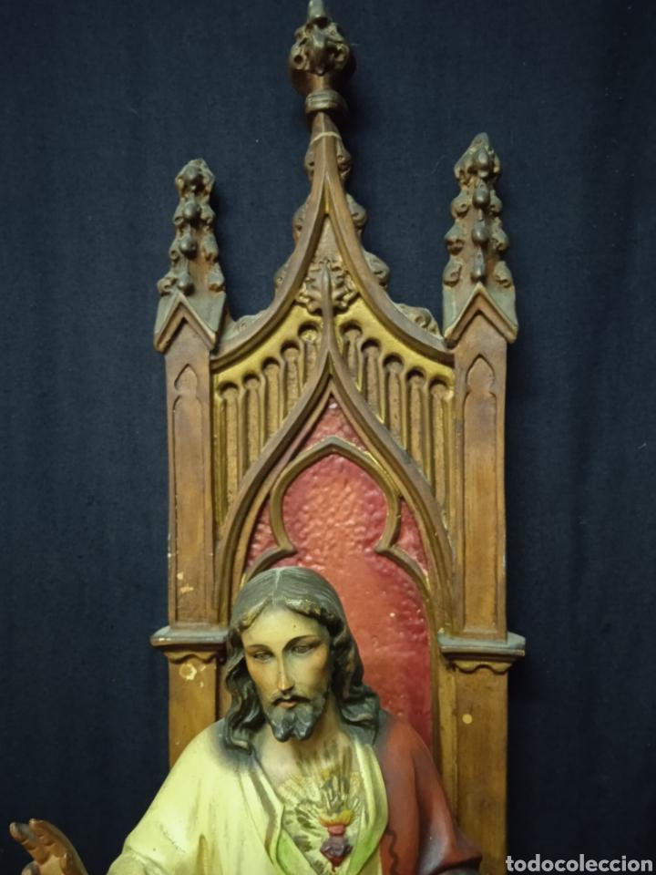 Arte: Antigua figura religiosa SAGRADO CORAZÓN DE JESÚS - Foto 9 - 269743218