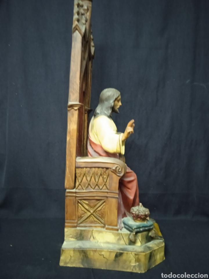 Arte: Antigua figura religiosa SAGRADO CORAZÓN DE JESÚS - Foto 12 - 269743218