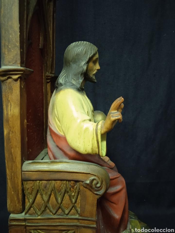 Arte: Antigua figura religiosa SAGRADO CORAZÓN DE JESÚS - Foto 13 - 269743218