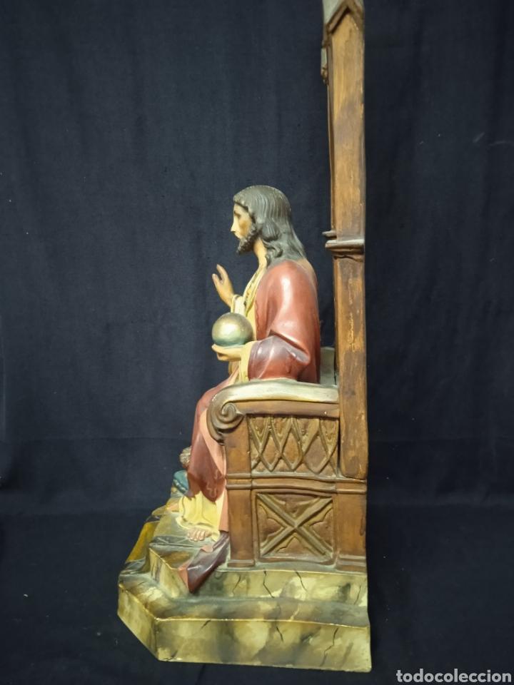 Arte: Antigua figura religiosa SAGRADO CORAZÓN DE JESÚS - Foto 16 - 269743218