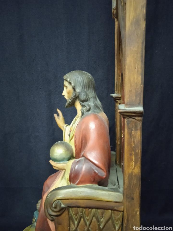 Arte: Antigua figura religiosa SAGRADO CORAZÓN DE JESÚS - Foto 17 - 269743218