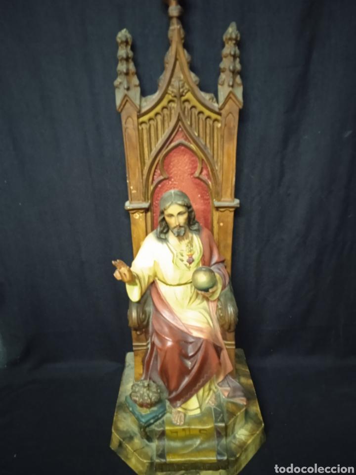 Arte: Antigua figura religiosa SAGRADO CORAZÓN DE JESÚS - Foto 18 - 269743218