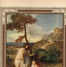 "Arte: 1927, LÁMINA ANTIGUA , ""NOLI ME TANGERE"", TIZIANO VECELLIO, 23X31 CMS.. Lote 269813298"