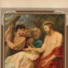 """Arte: 1927, LÁMINA ANTIGUA , """"CRISTO Y LOS PECADORES ARREPENTIDOS"""", PEDRO PABLO RUBENS, 23X31 CMS.. Lote 269813938"""