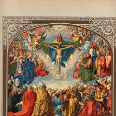 """Arte: 1927, LÁMINA ANTIGUA , """"ALEGORÍA DE TODOS LOS SANTOS"""", ALBERTO DURERO, 23X31 CMS.. Lote 269814168"""