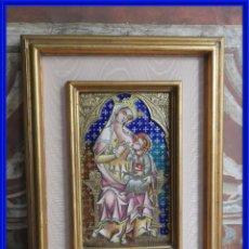 Arte: CUADRO DE LA VIRGEN DE LA LECHE REALIZADO EN LOS TALLERES DE MORATO. Lote 270111543