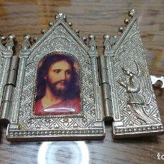 Arte: TRIPTICO RELIGIOSO EN METAL.. Lote 270182293