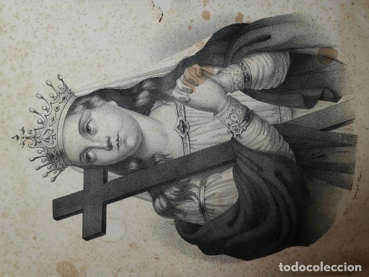 Arte: GRABADO SANTA HELENA--FRANCIA SIGLO XIX--GANGEL METZ - Foto 2 - 270227158