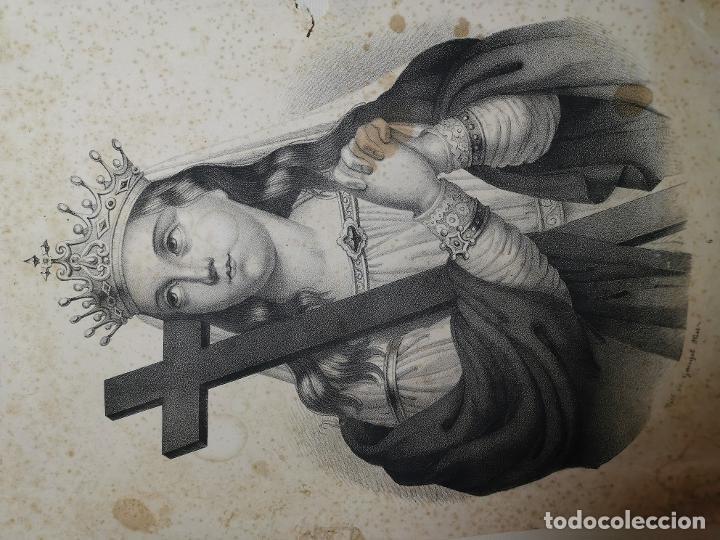 Arte: GRABADO SANTA HELENA--FRANCIA SIGLO XIX--GANGEL METZ - Foto 3 - 270227158