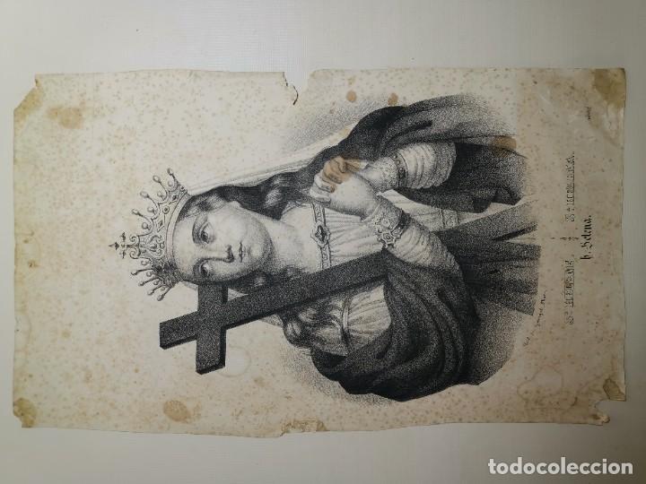 Arte: GRABADO SANTA HELENA--FRANCIA SIGLO XIX--GANGEL METZ - Foto 4 - 270227158