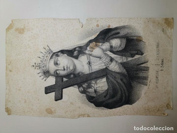 Arte: GRABADO SANTA HELENA--FRANCIA SIGLO XIX--GANGEL METZ - Foto 5 - 270227158