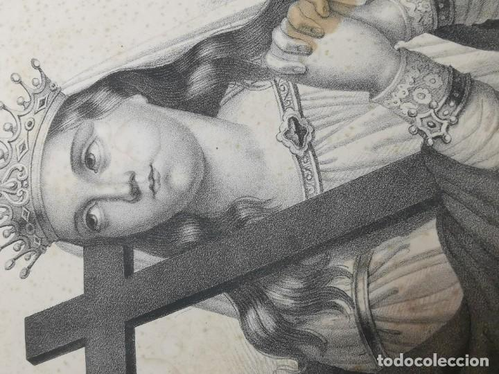 Arte: GRABADO SANTA HELENA--FRANCIA SIGLO XIX--GANGEL METZ - Foto 12 - 270227158