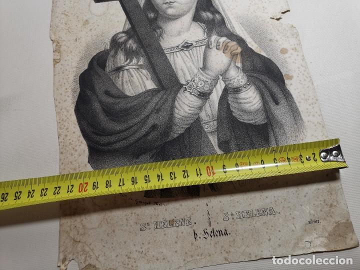 Arte: GRABADO SANTA HELENA--FRANCIA SIGLO XIX--GANGEL METZ - Foto 17 - 270227158