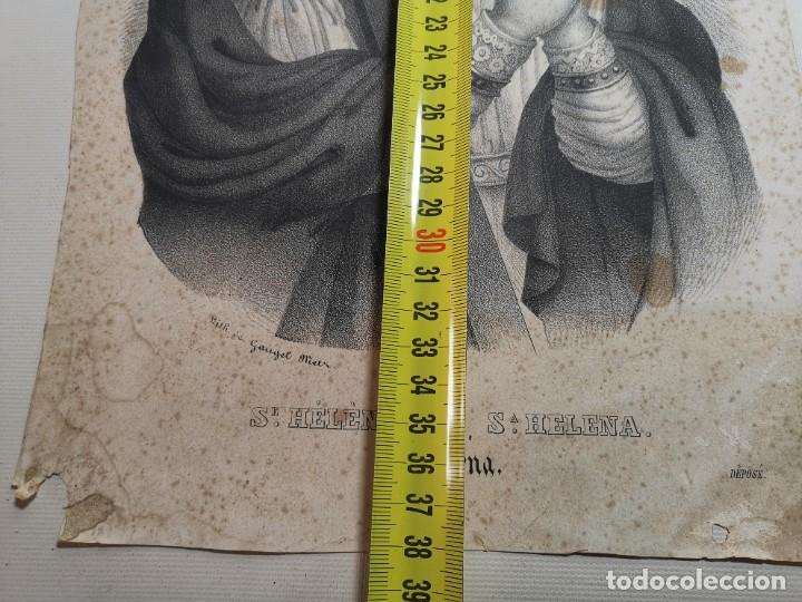 Arte: GRABADO SANTA HELENA--FRANCIA SIGLO XIX--GANGEL METZ - Foto 18 - 270227158