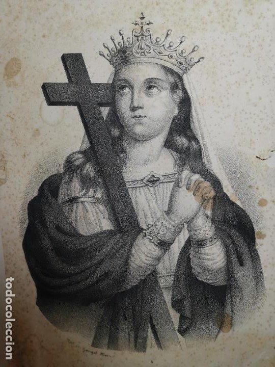 GRABADO SANTA HELENA--FRANCIA SIGLO XIX--GANGEL METZ (Arte - Arte Religioso - Grabados)