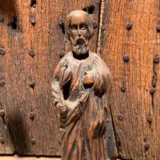 Arte: PRECIOSA IMAGEN RELIGIOSA SAN JUAN? EN TALLA DE MADERA. UNOS 38 CM. Lote 270871103