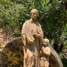 Arte: ESPECTACULAR IMAGEN SAN JOSE DE CALASANZ. FUNDADOR ESCUELAS PIAS. ESTUCO. TALLER OLOT. UNOS 52CM. Lote 270881808