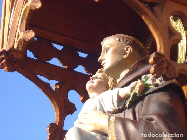 Arte: SAN ANTONIO DE PADUA CON NIÑO DORADO AL ORO FINO - Foto 2 - 271598048