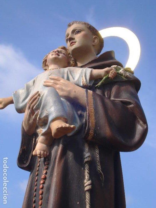 Arte: SAN ANTONIO DE PADUA CON NIÑO DORADO AL ORO FINO - Foto 15 - 271598048