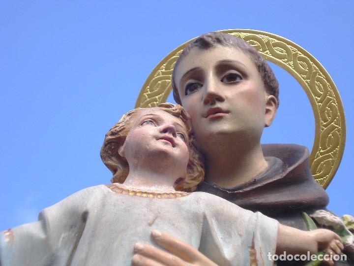 Arte: SAN ANTONIO DE PADUA CON NIÑO DORADO AL ORO FINO - Foto 16 - 271598048