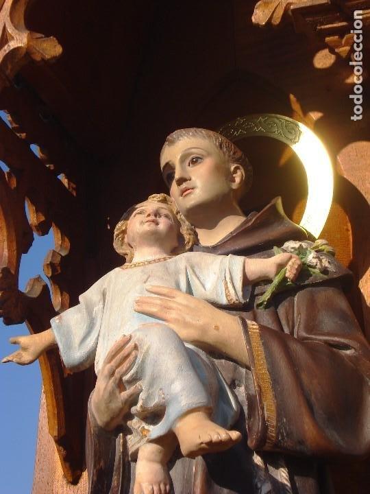 SAN ANTONIO DE PADUA CON NIÑO DORADO AL ORO FINO (Arte - Arte Religioso - Escultura)