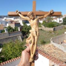 Arte: PRECIOSA TALLA EN MADERA DE JESUCRISTO CRUCIFICADO. Lote 271622653