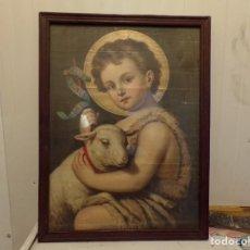 Arte: ANTIGUA LITOGRAFIA RELIGION NIÑO JESUS. Lote 271822803