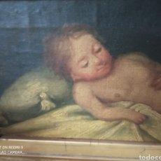 Arte: NIÑO JESÚS TUMBADO ÓLEO SOBRE LIENZO PRINCIPIO DEL XIX. Lote 271831858