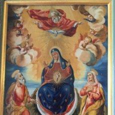 Arte: PINTURA EN CRISTAL EL MISTERIO DE LA ENCARNACIÓN ( S. XVII). Lote 271996943