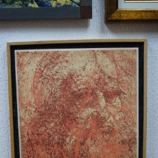 "Arte: LITOGRAFIA JUAN JOSE THARRATS ""LEONARDO DA VINCI"". Lote 123332367"