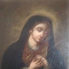 Arte: OLEO VIRGEN DE LA DOLOROSA... SIGLO XLX.. ME DICEN 1830 AL 1840...DESCRIPCIÓN FOTOS..REENTELADO... Lote 272648273