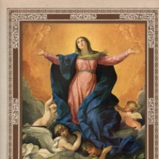 """Arte: 1927, LÁMINA ANTIGUA , """"LA ASUNCIÓN DE LA VIRGEN MARÍA"""", GUIDO RENI, 23X31 CMS.. Lote 272727143"""