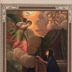 """Arte: 1927, LÁMINA ANTIGUA , """"LA ANUNCIACIÓN"""", FRANCESCO VECELLIO, 23X31 CMS.. Lote 272731313"""
