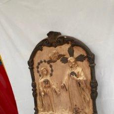 Arte: ANTIGUO Y PRECIOSO ICONO DE YESO!. Lote 273379478