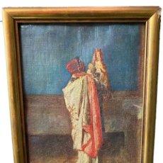 Arte: CARDENAL DICIENDO MISA, MARIANO FORTUNY,. Lote 274361743
