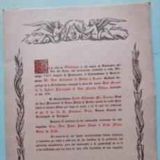Arte: VILALLONGA DEL CAMP TARRAGONA FOLLETO CONSAGRACION ALTAR MAYOR DESTRUIDO 1936. 1956. Lote 274865468