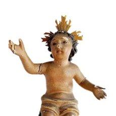 Arte: ESCULTURA EN MADERA S XVII BARROCO ESPAÑOL IMAGEN NIÑO JESÚS. Lote 274886858