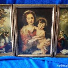 Arte: TRIPTICO RELIGIOSO ANTIGUO ADORACION. Lote 274922373