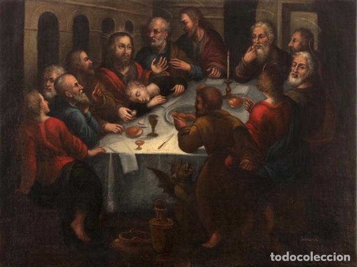PAREJA DE ÓLEOS - ESCUELA ANDALUZA - SIGLO XVII - FIRMADO, FERNANDEZ FECIT (Arte - Arte Religioso - Pintura Religiosa - Oleo)