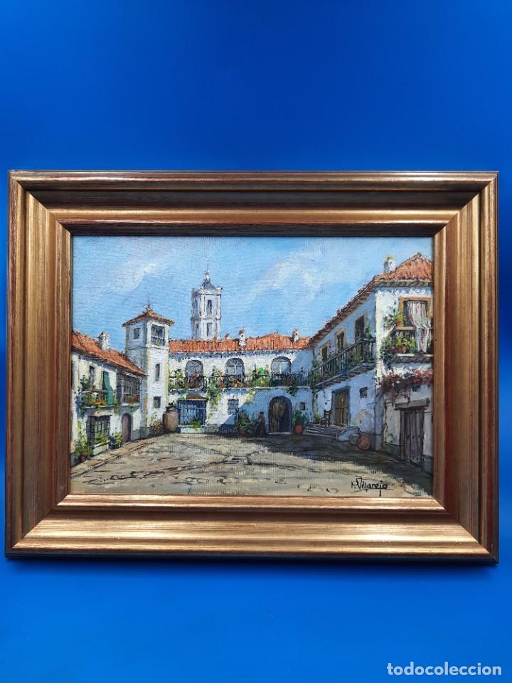 OLEO SOBRE LIENZO P. VILLAREJO. FIRMADO (Arte - Arte Religioso - Pintura Religiosa - Oleo)