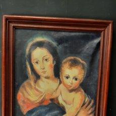 Arte: OLEO SOBRE LIENZO VIRGEN CON NIÑO JESUS. Lote 275275813