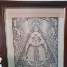 Arte: IMAGEN RELIGIOSA VIRGEN MARIA DEL ROCIO ERMITA DE ALMONTE HUELVA DIBUJO M. VALLE JEREZ 1989. Lote 275286373