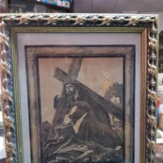 Arte: ANTIGUA IMAGEN RELIGIOSA SANTISIMO CRISTO DEL PAÑO MOCLIN GRANADA 1921. Lote 275289683