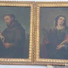Arte: DOS LIENZOS RELIGIOSOS SOBRE TABLA, GRAN ESCUELA, SIGLO XVIII - XIX, GRAN DEFINICIÓN VED FOTOS. Lote 275308503