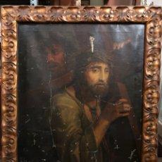 Arte: ESPECTACULAR OLEO DE CRISTO CON LA CRUZ A CUESTAS ( S. XVII-S.XVIII). Lote 275310373