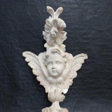Art: DETALLE DE RETABLO CASTELLANO DEL SIGLO XVIII. ÁNGEL CON MOTIVOS VEGETALES V4. Lote 275453833
