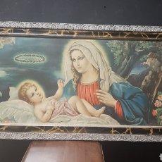Arte: BONITA LAMINA RELIGIOSA VIRGEN CON NIÑO JESUS PRESENTIMIENTO DE LA SANTISIMA VIRGEN. Lote 275467678